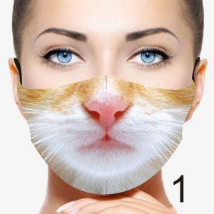 Animal Design Face Mask: Ginger Cat