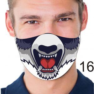 Animal Design Face Mask: Mad Dog
