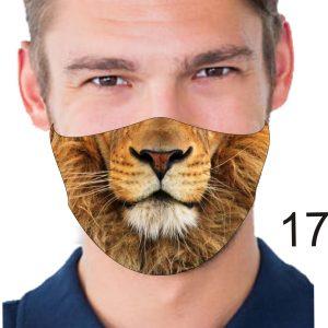 Animal Design Face Mask: Lion