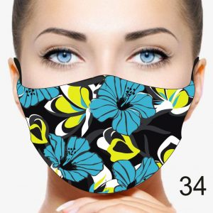 Flower Design Face Mask