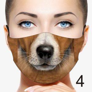 Animal Design Face Mask: Beige Dog