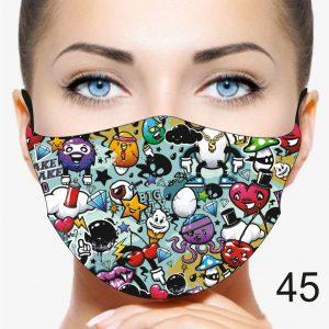 Fun Emoji Design Face Mask