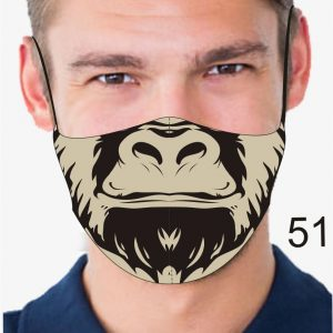 Animal Design Face Mask: Gorilla