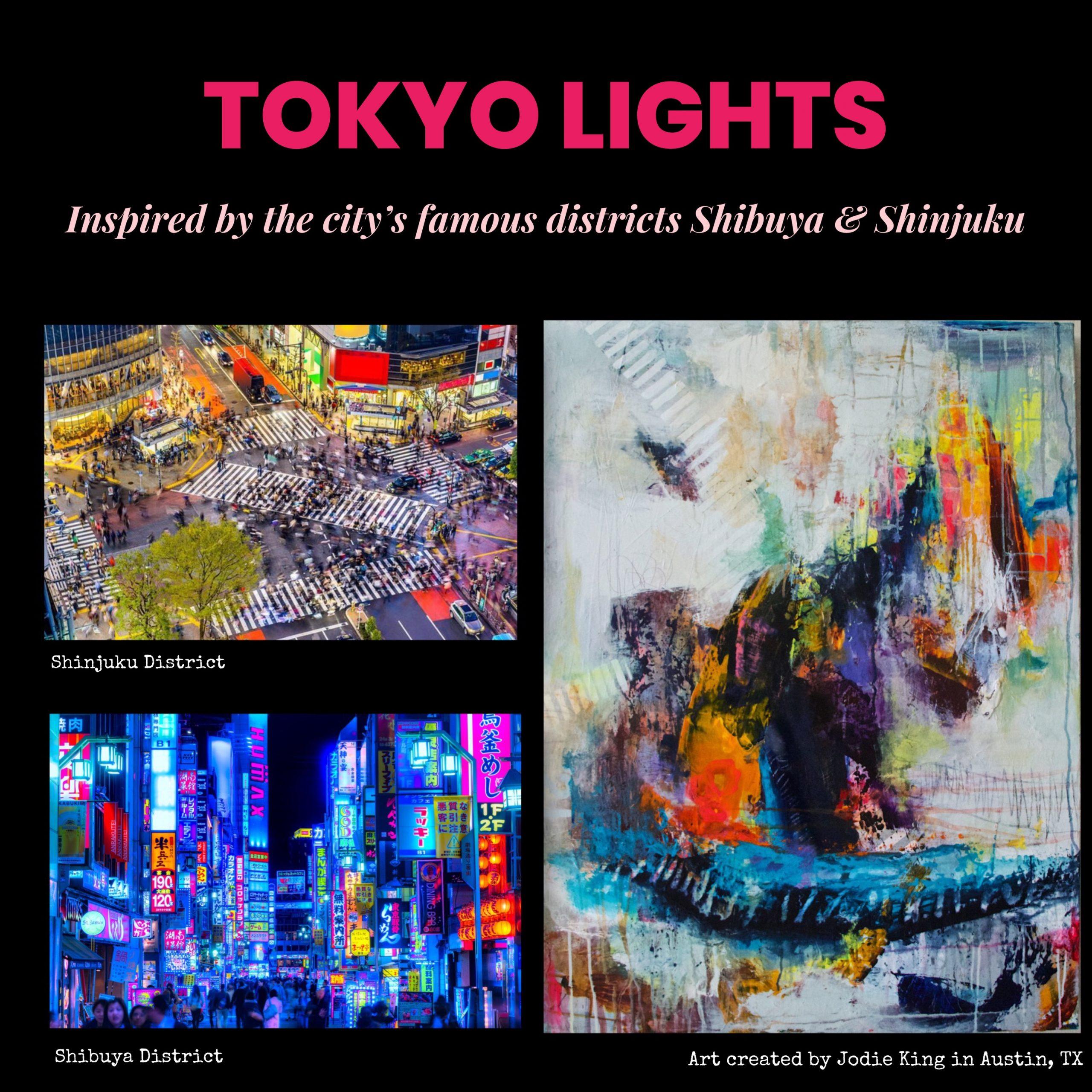Tokyo lights collage